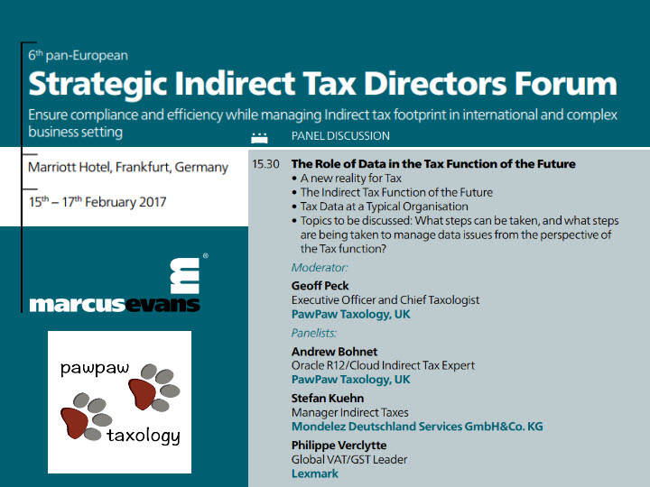 PawPaw Taxology to Sponsor 6th Strategic Indirect Tax Director's Forum